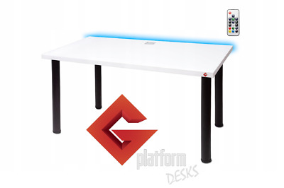 Gaming Table  Desk  For Gamers Streamers Large Led Office Home
