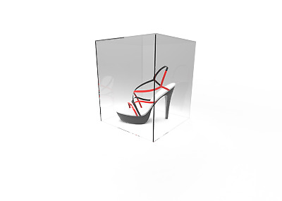 Acrylic Cube Display Stand Rectangle 5 Sided Box Perspex Cover (30x26x26cm)