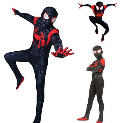Spider-Man: Into the Spider-Verse Kids Adult Costume Miles Morales Cosplay Suit