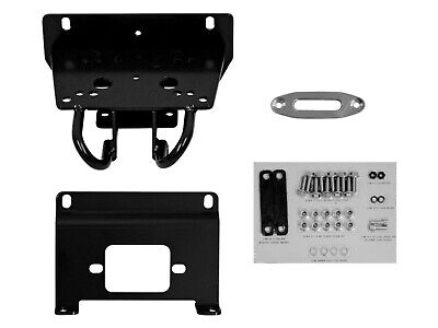 SuperATV Winch Mounting Plate for John Deere Gator RSX 850 for 3500 lb. Winches