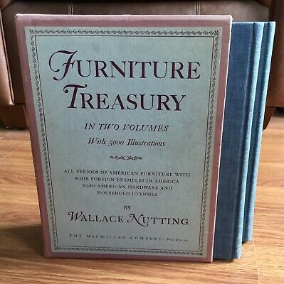 2 VOL Book Set Old FURNITURE TREASURY VOL I & II, WALLACE NUTTING 1948