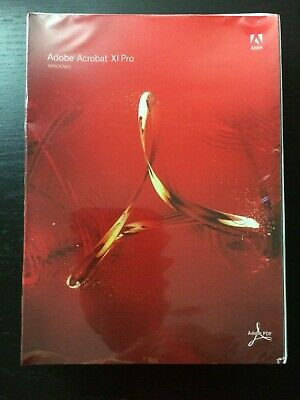 Adobe Acrobat XI Pro Retail Box DVD Windows PC NEW SEALED Genuine 1 User License