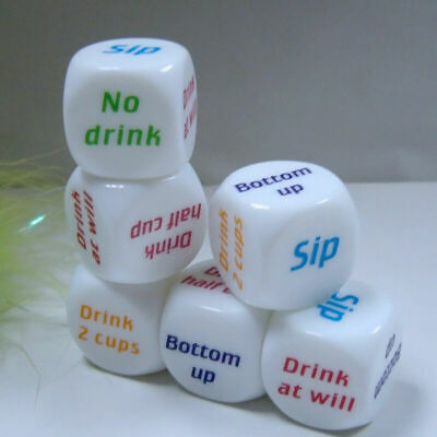 DRINKING GAME DICE - Stag / Hen Do Party Uni Rave Pub Club