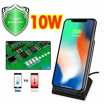 Luxury Qi Fast Wireless Charger Charging Stand For Apple iPhone XS Max Xr 8 Plus