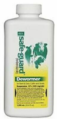 Safe-Guard Oral Drench Wormer Cattle Goats 1000 ml