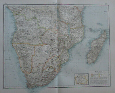 Südafrika South Africa alte Landkarte aus 1900 Andrees Handatlas old map