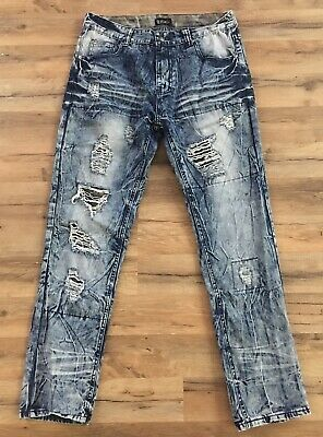 ded69356 MARC ECKO CUT & Sew Spring Collect Mens 34X32 Blue Combo Slim ...