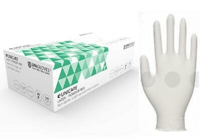 Box 100 200 500 1000 Unigloves Powder Free Latex Disposable Gloves