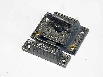 Antique Cupboard Cabinet Latch in Decorative Cast Iron 1880's, Iron T Handle