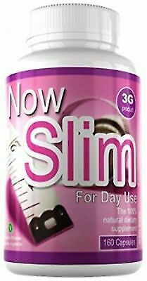 Slim 3G Daytime Slimming Capsules - Fat-Burning Nutritional Supplement -160 Caps
