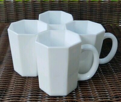 Arcopal France Novoctime Octime Mugs - White - Set of Four
