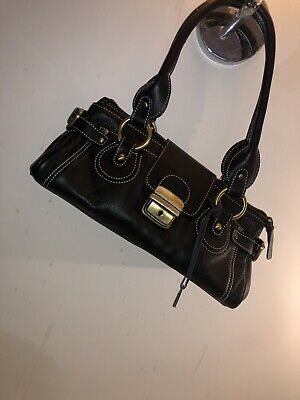 Leather Bag Handmade in Florence Small to medium size in Black