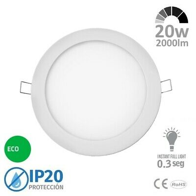 Downlight LED 20w Redondo Blanco Extraplano