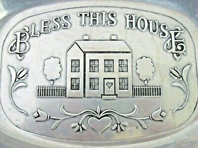 Wilton Armetale Pewter Bless This House Platter Serving Tray