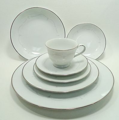 WHITEBROOK 6441 NORITAKE CHINA JAPAN RARE 7 PC PLACE SETTING(s) Nice!!!