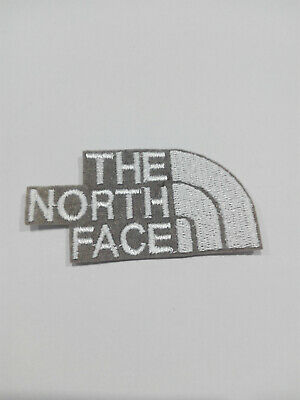 Parche bordado para PEGAR estilo The North Face 7/3,5 cm BLANCO adorno ropa