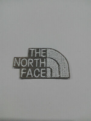 Parche bordado para PEGAR estilo The North Face 5/3 cm BLANCO adorno ropa