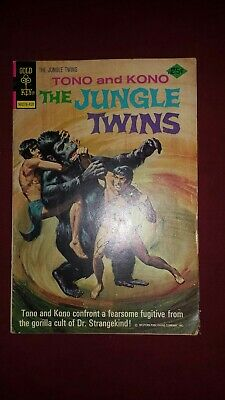 Vintage Whitman Comic Book 1974 Tono And Kono The Jungle Twins #11 Gorilla Cult Comics
