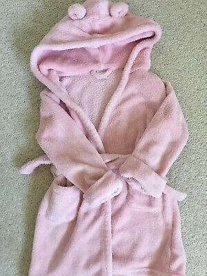 Girls GAP Pink Fleece Dressing Gown Age 2 Swim Cover Up