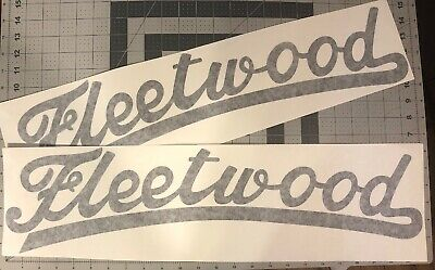 "Fleetwood Vintage style Canned Ham Trailer decals 24"" set 2 Black"