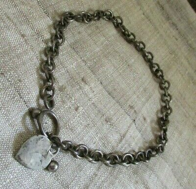 "Vintage Viking Linking Thick Sterling Silver Convertable 16"" Chain / Braclet"