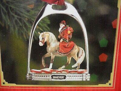 Breyer NEW * Father Christmas & Glittery Stirrup Ornament * Holiday Model Horse