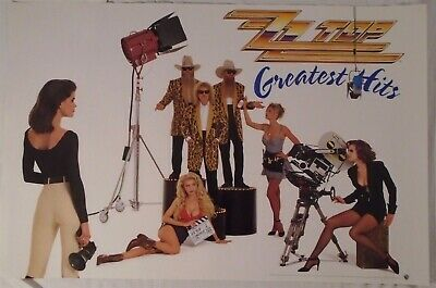 ZZ Top Poster ZZtop Greatest Hits Movie Shoot Band Shot
