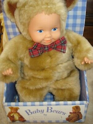 Punctual Vintage No Box! Anne Geddes New With Tags Baby Bear Bean Filled Doll