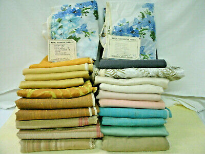 Vintage Fabric Samples--F.Schumacher & Waverly--1960's--20 Pieces--Unused