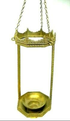 Antique Brass Metal Hanging Chandelier Candle Holder Modern Gothic Frame Body