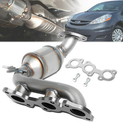 PE49445 FRONT EXHAUST MANIFOLD CATALYTIC CONVERTER FIT 2004-07 TOYOTA HIGHLANDER