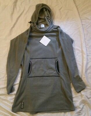 Melanzana womens micro grid hoodie dress Large with sticker