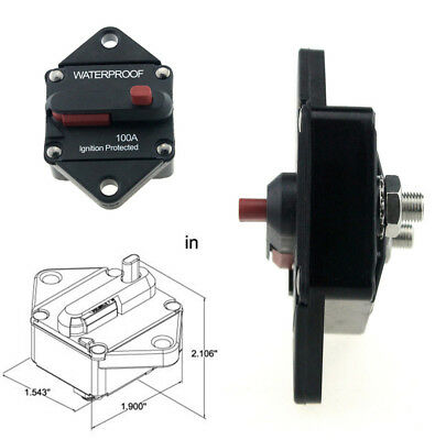 QTY3 VCB100 48VOLT Circuit Breaker 100A DC WATERPROOF W IGNITION PROTECTION