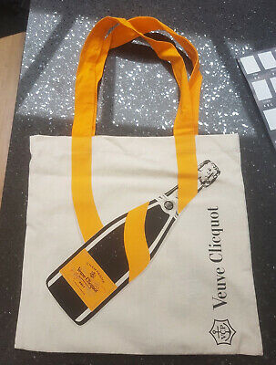 VEUVE CLICQUOT Ponsardin Champagne Limited Edition Canvas Shopping Tote Bag NEW!