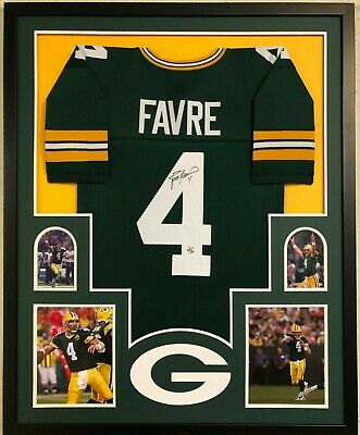 8262585dc55 Framed Green Bay Packers Brett Favre Autographed Signed Jersey Favre Coa
