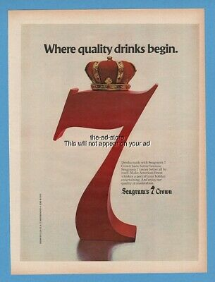 1979 Seagrams 7 Crown Whiskey Quality Drinks Vintage Photo Print Ad