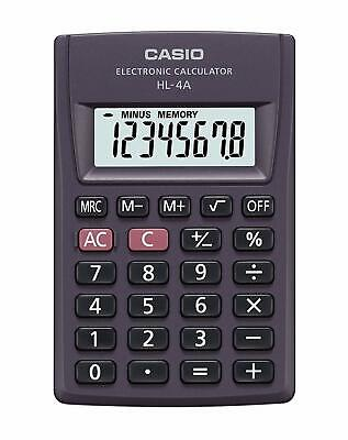 Casio HL-4A Electronic Calculator HL4A Pocket portable basic HL 4A