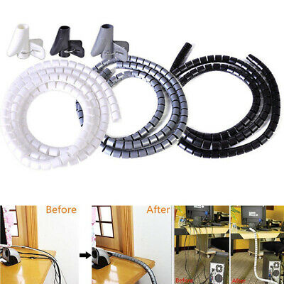 2M Cable Hide Wrap Tube 10/28mm Organizer & Management Wire Spiral Flexible Cord