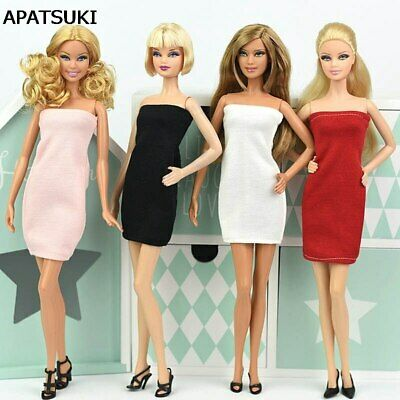 Sexy Strapless Summer Dress For 1/6 Doll Evening Dress Clothes For 11.5in Doll
