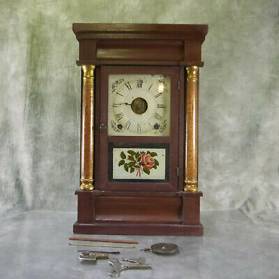 "Antique SETH THOMAS 8 Day Weight 19"" CLOCK Restoration Project PARTS ONLY S1E1"
