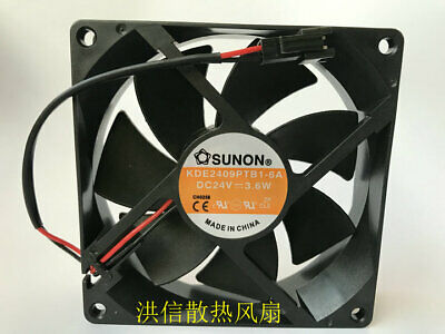 1pcs  SUNON KDE2409PTB1-6A DC24V 3.6W 9025 92*25MM inverter fan
