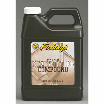 FIEBING'S Neatsfoot Oil Prime Compound 32oz Leather Saddle Boots Tack Preserve