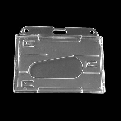 ID Badge Holder Plastic ID Card Holder Double Sided Transparent Card Holder Q3