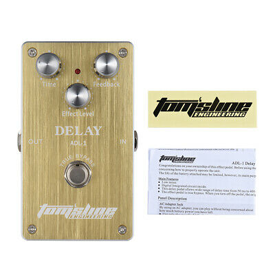 Aroma Delay Electric Guitar Effect Pedal Aluminum Alloy Housing True Bypass R8X5