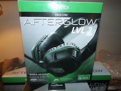 OPEN BOX PDP Afterglow LVL 3 Over-Ear Sound Isolating Headset for Xbox One Black