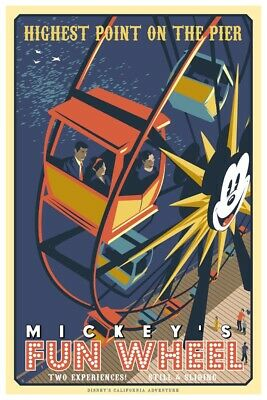 California Adventures Mickey's Funwheel - Collector Poster (B2G1 Free!!)