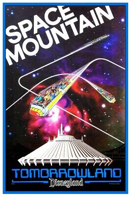 Disneyland Space Mountain 1977 - Collector Poster 4 Sizes  (B2G1 Free!!)