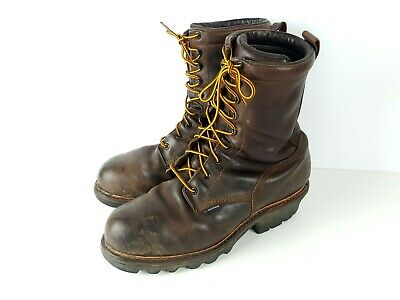 2829dd13d7a RED WING STOCK 4417 Steel Toe Loggermax Safety Work Boot Mens Size 11 D  Worn EH