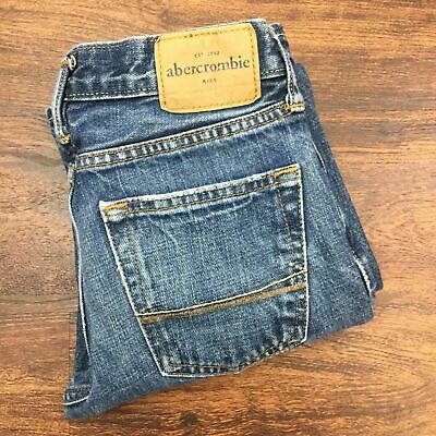 ABERCROMBIE Boys Kids The A & F Classic Straight Blue Jeans 100% Cotton Size 10