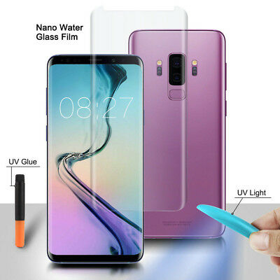 For Samsung Galaxy S8 S8+ S9 S9 Plus UV Glue 3D Curved Liquid Tempered Glass